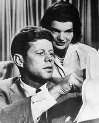 This file photo from the 1950s shows John F. Kennedy with his wife, Jacqueline Bouvier Kennedy. (Agence France-Presse)