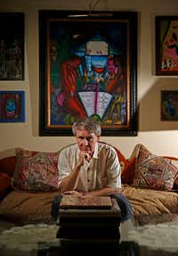 Author Ben Fountain at his home in Dallas in July. (Jae S. Lee/Staff Photographer)