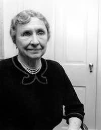 "Helen Keller, photographed in 1953, was a ""champion of the disabled"" and an inspiration the world over.(The Associated Press/File Photo)"