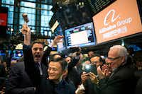 Jack Ma, chairman of Alibaba, prepares to ring the bell at the New York Stock Exchange on Sept. 19, 2014. Ma, China's richest man, plans to retire from his e-commerce company to focus on philanthropy.(Todd Heisler/The New York Times)
