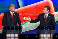 Sen. Ted Cruz debates future President Donald Trump at The Venetian Las Vegas on Dec. 15, 2015.(ROBYN BECK/AFP/Getty Images)