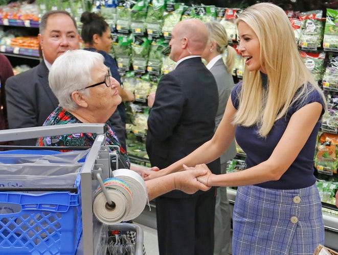 First Daughter Ivanka Trump Is Greeted By Shoppers As She Visits The Walmart Off Of Highway 80 In Mesquite To Participate A Tour And Discussion With