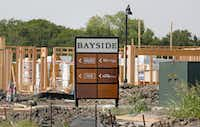 Construction continues on the Bayside development in Rowlett, photographed on Thursday, July 26, 2018. (Louis DeLuca/The Dallas Morning News)(Louis DeLuca/Staff Photographer)