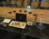 Hall Wines'  Platinum Experience is its most exclusive wine tasting at its St. Helena, Calif., site. At the $250 private, seated tasting — which is by appointment only — six of Hall's best Cabernet Sauvignons are paired with small bites prepared by Napa Valley chef Sarah Scott.(Sheryl Jean/Special Contributor)