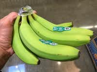 Green bananas, like these sold at Whole Foods, are higher in starch than yellow ones.(Howard Garrett/Special Contributor)