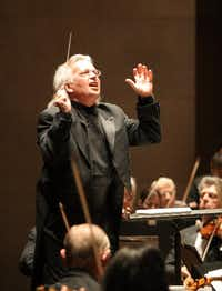 Conductor Claus Peter Flor performed with the Dallas Symphony Orchestra at the Meyerson Symphony Center in 2007. (File photo)