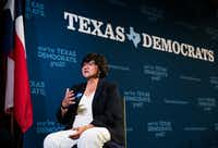 "<p>Democratic gubernatorial candidate Lupe Valdez criticized Gov. Greg Abbott's close ties to the Trump administration. The former Dallas County sheriff said, ""<span style=""font-size: 1em; background-color: transparent;"">Gov. Abbott's meetings with Donald Trump and Washington, D.C., officials have been a wasted opportunity for Texans across the state.""</span></p>(Ashley Landis/Staff Photographer)"
