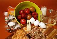 Ingredients for Apple Dapple Cake(Vernon Bryant/Staff Photographer)