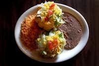 Ojeda's puffed taco dinner (Louis DeLuca/Staff Photographer)