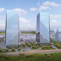 Frisco Station - which recently announced plans for a second 6-story office building - also has plans for office towers.(Frisco Station)