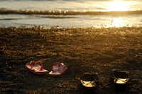 Swimmers leave their sandals on the shores of Joe Pool Lake on July 30, 2011 in Dallas County.(File Photo/Staff)