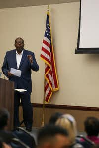 State Sen. Royce West, D-Dallas speaks during a town hall meeting discussing the upcoming 2020 U.S. Census on Tuesday, Sept. 25, 2018 in Dallas. (Ryan Michalesko/Staff Photographer)