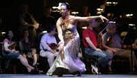 <p>Melissa M. Young performs with the Dallas Symphony Orchestra during her tenure as a dancer at Dallas Black Dance Theatre. Young has been with the company for 25 of its 42 years and has been named its new artistic director.</p>(File Photo/Staff)