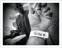 11/3/16 — Lab work with Carlos again. Door code wrist band. Dr. P said labs were improved again.(Guy Reynolds/Staff Photographer)