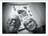 12/15/16 — Last post from the first trip to Houston and @mdandersoncancercenter to see Jaffer Ajani, the top esophageal cancer doc around. Here we sit Thursday late afternoon in his exam room waiting for the news about what Tuesday's PET scan showed. A while later we were really smiling, not forcing it. The forest is thick and I'm far from being out of the woods but some trees have fallen from my path. Both tumors have shrunk. Big nasty in the liver considerably so. Doc says do four more chemotherapy sessions in Dallas and return for further imaging and he'll present my case to the group to discuss next step. Radiation? Surgery? We'll see.(Guy Reynolds/Staff Photographer)