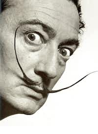 "This photo provided by the Philippe Halsman Archive, via the High Museum of Art shows artist Salvador Dali in a 1953 portrait by  photographer Philippe Halsman.&nbsp;(AP/<p><span style=""font-size: 1em; background-color: transparent;"">Philippe Halsman Archive</span></p>)"
