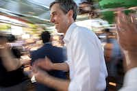 "<p><span style=""font-size: 1em; background-color: transparent;"">U.S. Rep. Beto O'Rourke, shown campaigning at the Dallas Farmers Market in late May, has been a blur for the past 18 months, campaigning in all of Texas' 254 counties. He has whetted Democrats' hopes as he bids to unseat incumbent Republican U.S. Sen. Ted Cruz.</span><br></p>(Jeffrey McWhorter/Special Contributor)"