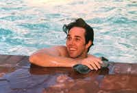 Beto O'Rourke in undated photo in the swimming pool at his boyhood home in central El Paso.(Courtesy of Melissa O'Rourke)