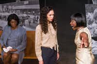 Genine Ware, Alexis Zollicoffer and Ardina Lockhart in Jubilee Theatre's production of the Christina Ham play <i>Nina Simone: Four Women</i> in Fort Worth.(Robert W. Hart/Special Contributor)