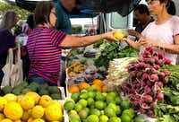 The Kauai Community Market offers locally grown produce each Saturday, plus coffee, honey, goat cheese, breads and pastries.(Michael Hiller/Special Contributor)