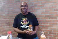 Wilford Leonard of Cedar Hill offers his Lips Smackers barbecue sauces, which are smoky and tangy with a kiss of sweetness, at the State Fair. He also sells at Canton First Mondays and Renko's Sausage Co. in DeSoto.(Kim Pierce/Special Contributor)