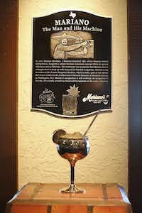 A monument to the frozen margarita at Mariano's Hacienda in Dallas.(Brian Elledge/Staff Photographer)