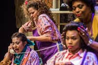 <p>The cast of Dallas Theater Center's production of<i> Steel Magnolias</i> includes (from left) Christie Vela, Ana Hagedorn, Tiana Kaye Blair and Liz Mikel.</p>(Carly Geraci/Staff Photographer)