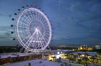 The 400-foot observation wheel Orlando Eye is one of the city's must-see tourist attractions.(John Raoux/The Associated Press)