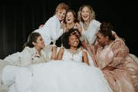 <p>The cast of Dallas Theater Center's production of <em>Steel Magnolias</em>: (top row, from left) Nance Williamson, Ana Hagedorn, Sally Nystuen Vahle, (bottom row, from left) Christie Vela, Tiana Kaye Blair and Liz Mikel.</p>(Evan Michael Woods)