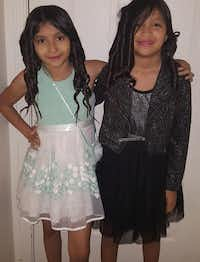 Sisters Jaylene (left) and Jazmine Alfaro were on the bus. Jazmine, 12, died.(KXAS-TV)