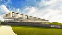 This is an artist rendering of the Collin College Technical Campus that is under construction and scheduled to open in 2020.(Collin College)