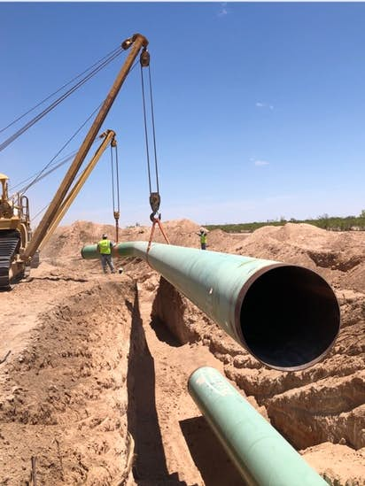 permian basin bottleneck natural gas pipeline to be converted to