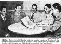 The Cuellar brothers in 1952.