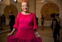 Anita N. Martinez poses for a portrait at her ballet folklorico studio in Dallas. (Ashley Landis/Staff Photographer)