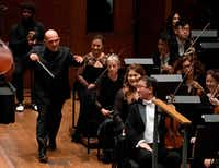 <p>New York Philharmonic music director Jaap van Zweden's tenure began on Sept. 20 with his inaugural Opening Gala Concert.</p>(Don Emmert/Agence France-Presse)