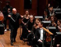 <p>New York Philharmonic music director Jaap van Zweden's tenure began on Sept. 20 with his inaugural Opening Gala Concert.&nbsp;</p>(Don Emmert/Agence France-Presse)