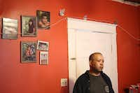 "<p><span style=""font-size: 1em; background-color: transparent;"">Armando Rivera at his home for 12 years in Commerce, Texas, on Sunday. Pictures of his children hang on the wall behind him. The Mexican immigrant has lived in the U.S. since 1995 and hopes to obtain legal status.</span></p>(Obed Manuel/Staff )"