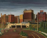 Florence McClung (Am. 1894-1992) <i>Triple Underpass, 1945</i>&nbsp;(Paul Lara/David Dike Fine Art)