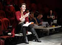 Clare Shaffer directs actresses during a rehearsal of <i>A Doll's House, Part 2</i> at Stage West Theatre in Fort Worth.(Tom Fox/Staff Photographer)