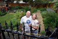 Felix and Maggie Saucedo in their backyard garden in Dallas(Ben Torres/Special Contributor)