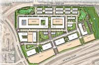 The mixed-use project is planned to include office towers, a hotel, retail apartments and townhouses on the north side of State Highway 121 in Frisco.(Stantec)