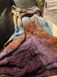 Angela Turnage of Dallas knitted this wrap. Knitting brings her solace.(Angela Turnage)