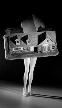'Walking House,' 1989, Laurie Simmons, pigment print. (Collection of the Modern Art Museum of Fort Worth/Laurie Simmons)