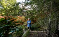Sally Kilgore finds joy in the ever-changing Wildscape in her Rowlett back yard. (Shaban Athuman/Staff Photographer)
