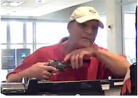 The man robbed the teller at gunpoint.(Dallas Police)
