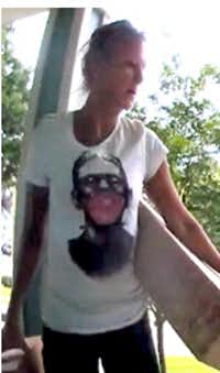 """<p><span style=""""font-size: 1em; background-color: transparent;"""">Police are trying to identify this woman accused of stealing packages from a porch in Dallas.</span></p>(Dallas Police)"""