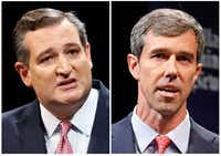 <p>During their first debate, Sen. Ted Cruz (left) hurled haymakers at Rep. Beto O'Rourke, who initially offered objections but let many of the incumbent's punches go unanswered.</p>(File Photos)