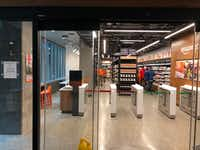 The entry of an Amazon Go store in Seattle, being tested before a nationwide rollout.(Dave Lieber/Staff)