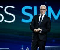 CNN's Anderson Cooper has twice been a headliner at AT&T's Business Summit.(Nathan Hunsinger/Staff Photographer)