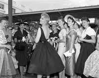 """Vertigo"" star Kim Novak arrives at Union Station in 1956.(J. Erik Jonsson Central Library/Dallas History & Archives Division/Courtesy)"